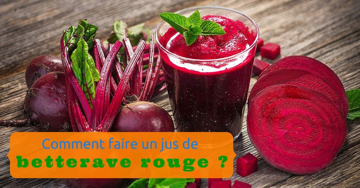 jus de betterave rouge