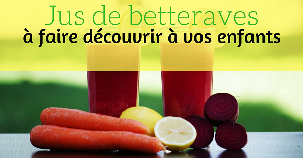 jus de betteraves enfants